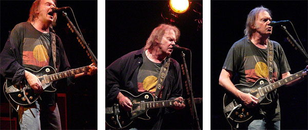 collage neil young live 2009